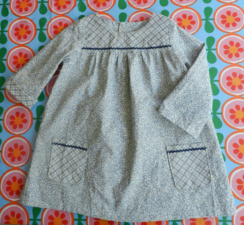 Baby dress in vintage cotton