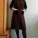 Vintage velour mash-up dress