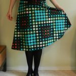 Another Burda oldie: skirt in Dutch Wax